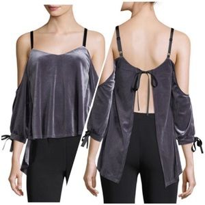 NEW Romeo & Juliet Couture Velvet Open Back Top C